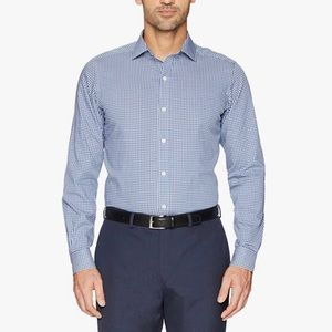 Buttoned Down Tailor Fit Dress Shirt Blue Gingham